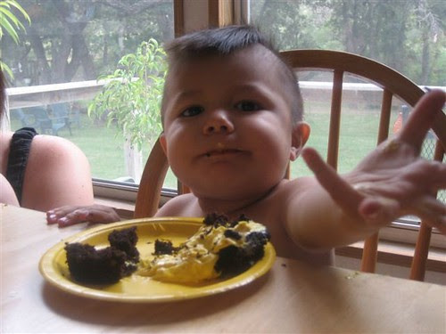 Cute kid with cupcake