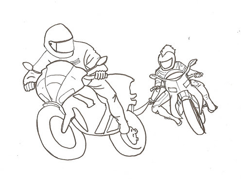 Riders - Initial cleaned up sketch