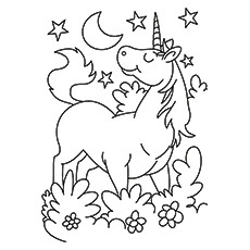 Printable Unicorn - Calendar June
