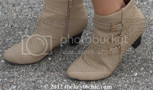 GoJane studded tan ankle boots
