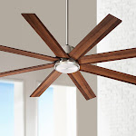 """60"""" The Strand Brushed Nickel Ceiling Fan - Style # 24J16"""