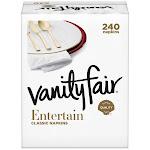Vanity Fair Entertain Napkin, 3-Ply, 60-Count, 4-Pack
