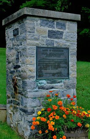 Bennington Battlefield Gate Marker - Left
