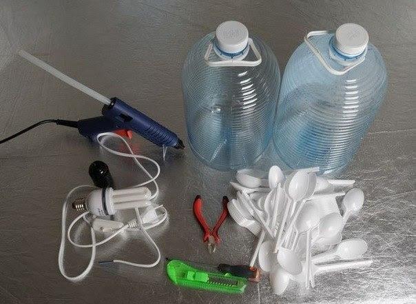 Как сделать люстру из подручных материалов