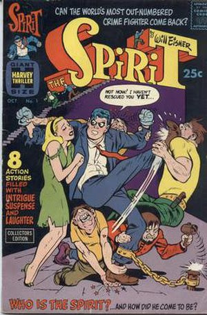 Harvey Comics' The Spirit #1 (Oct. 1966).
