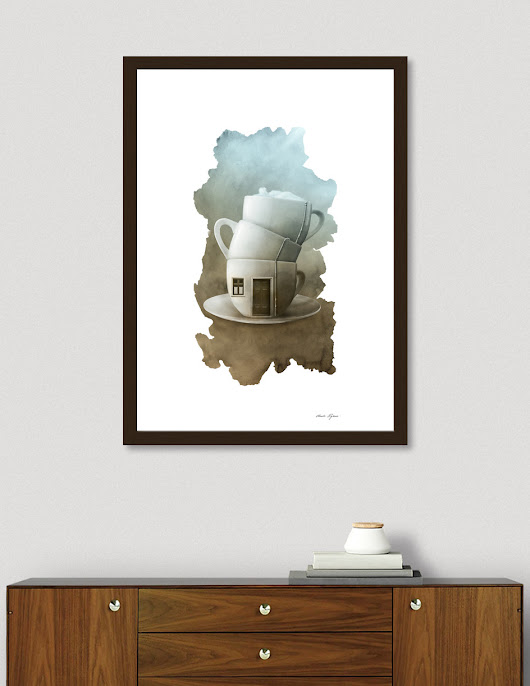 «Home Sweet Home», Numbered Edition Affiches d'art by Claude Peyrouse - From $20 - Curioos