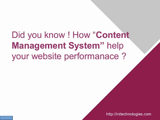 Did you know how content management system helps your website perform…