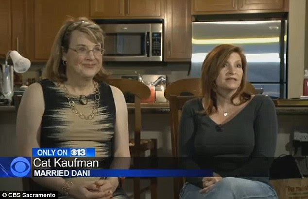 Cat Kaufman (right) revealed she was gay to her husband, David, 20 years into their marriage. David is now Dani (left)