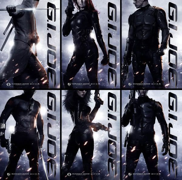 Six new teaser posters for G.I. JOE: THE RISE OF COBRA.