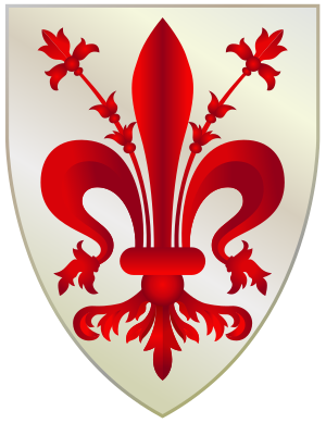 English: Coat of Arms of Florence, Italy, trac...
