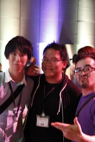 With DEAR KUMASHIRO director Takano Toru and his lead actor J. Hashiguchi