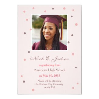 Modern Dots Graduation Announcement
