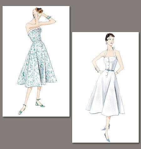 vogue vintage elbise kalıpları