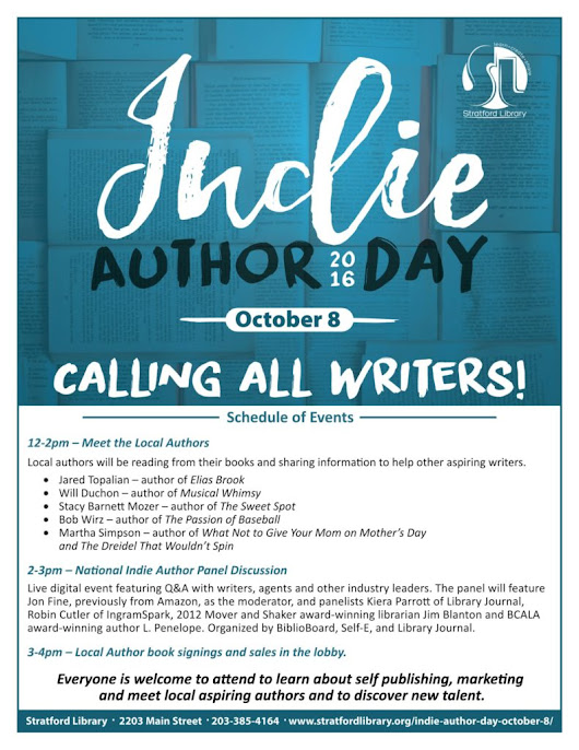 Join Me at the Stratford Library Indie Author Day 2016