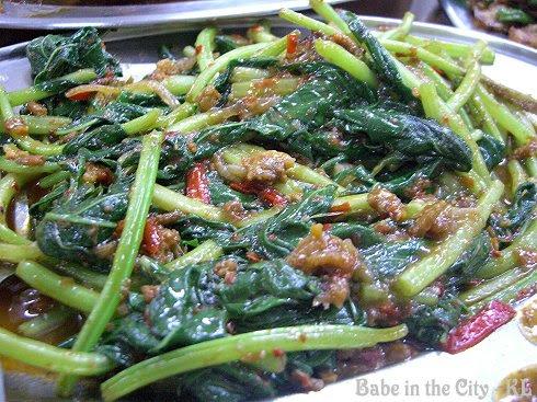 Stir-fried KangKung Belachan