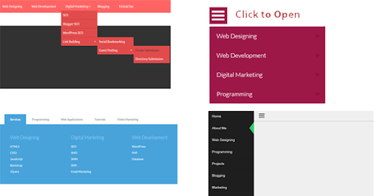 Responsive Dropdown Menu Download Free With Project
