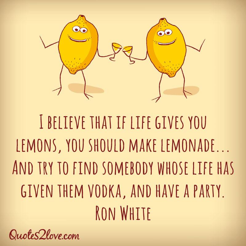 I Believe That If Life Gives You Lemons You Should Make Lemonade