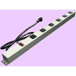 e-dustry EPS-2063G 24 in. 6 Outlet Metal Power Strip