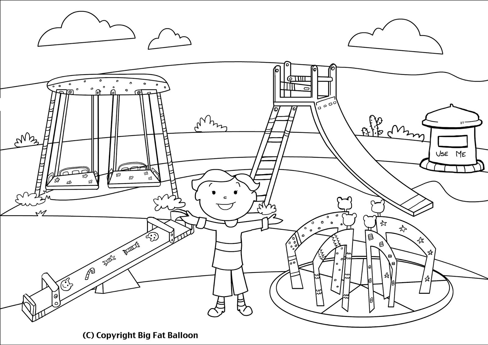 children playing drawing 14