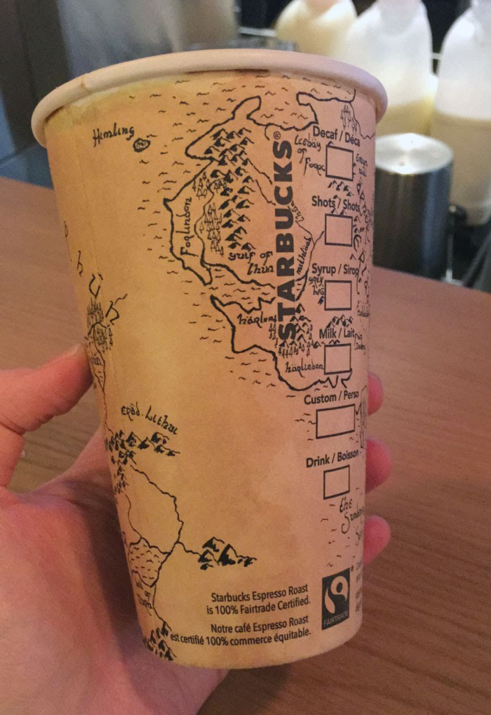 Guy Spends 5 Hours Drawing Detailed Map Of Middle Earth