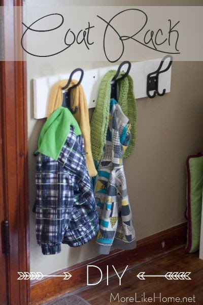 More Like Home Easy Diy Coat Rack Entryway Mini Makeover