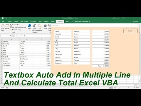 My Vision : Auto Add Textbox In multiple Line And Calculate