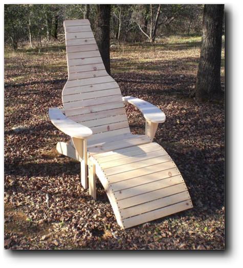 Beer Bottle Adirondack Chair &