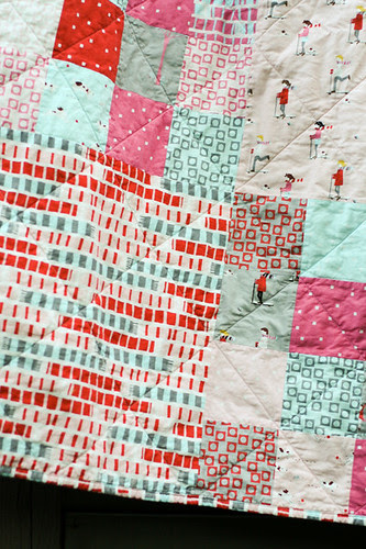 Sherbet Pips Quilt - Quilting detail by jenib320