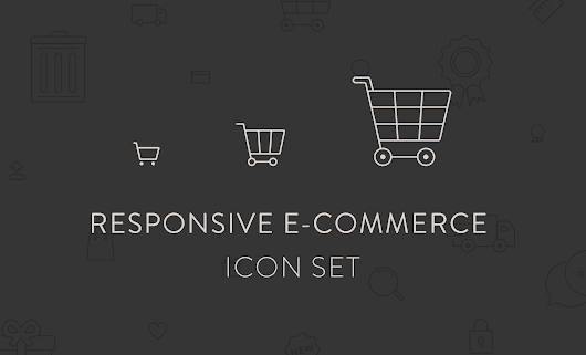Free Download: Responsive eCommerce Icon Set | Plug and Play