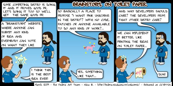 [fedora webcomic: brainstorm]