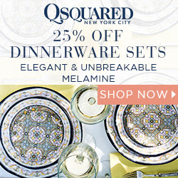25% off Melamine Dinnerware Sets at QSquaredNYC.com with code 25OFF12PC