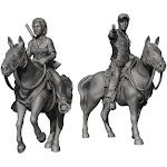 Mantic MGCWD133 Walking Dead Maggie & Glenn on Horseback Miniature