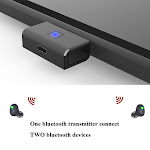 Achoro Bluetooth Audio Adapter Compatible with Nintendo Switch, PS4, and PC - Support Bluetooth Headphone, Speaker. USB - C Wireless Adapter and