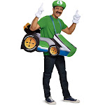 Luigi Mario Kart Adult Costume Super Bros Kit Video Game Cart Group Halloween