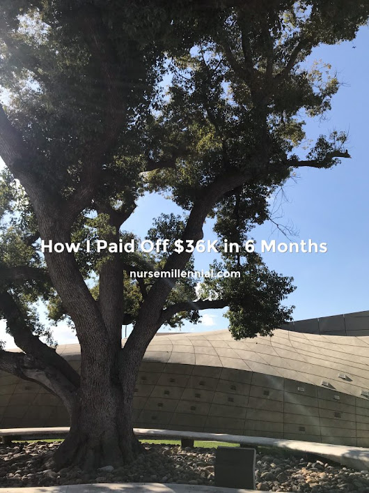 How I Paid Off $36K in 6 months | nurse millennial