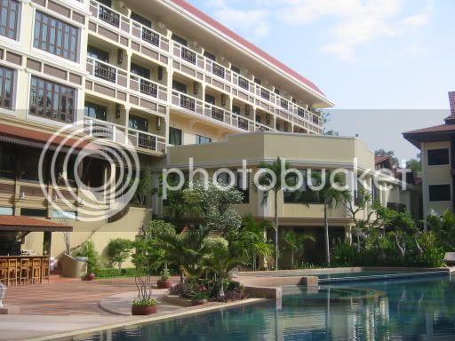 View around swimming pool