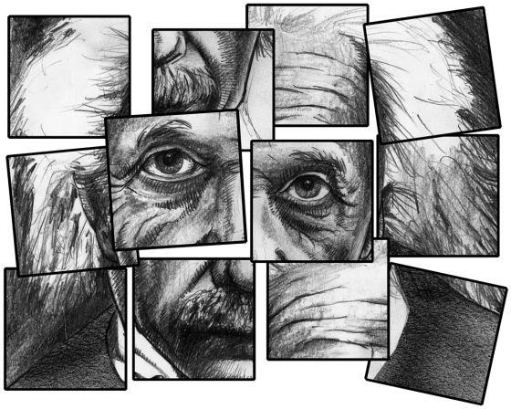 Albert Einstein visto por Diego Blanco.