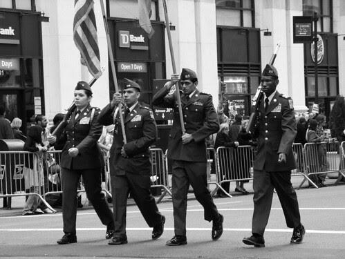 Veterans Day flag bearers