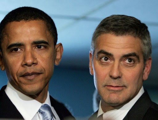 Obama e Clooney, parceira vitoriosa. Foto: Win Mcnamee/Getty Images/AFP Photo