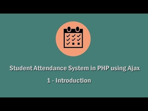 Online Student Attendance System in PHP Mysql | Webslesson