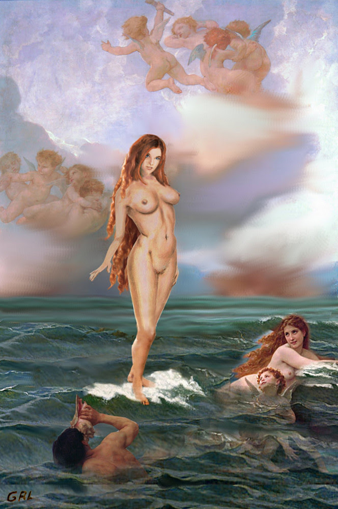 Female Nude Tasha Goddess Aphrodite 3c. Original multimedia fine art work, paintings. Prints, signed prints, originals available. Free downloads, wallpaper, GrlFineArt. Fine art work, fine art decor, fineart; landscapes, seascapes, boats, figures, nudes, figurative art, flowers, still life, digital abstracts. Multimedia classical traditional modern acrylic oil painting paintings prints.