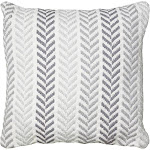 LR Resources PILLO07253GRYIIPL 18 x 18 in. Square Pillow Gray
