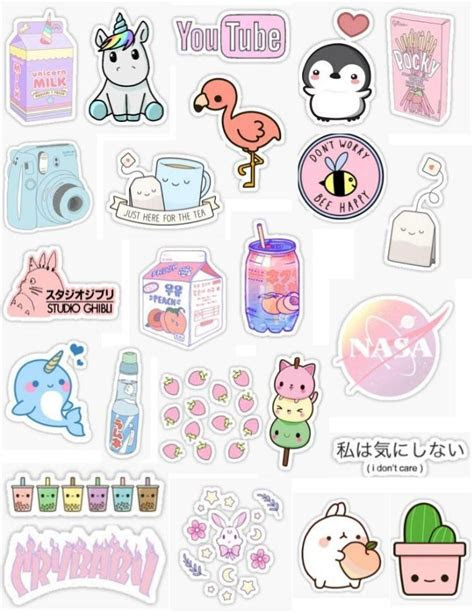 kawaii sticker pack pink stickers peach stickers pastel