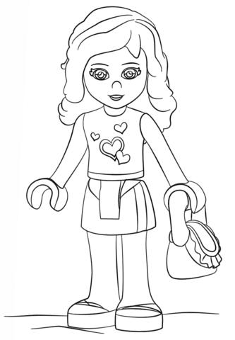 Disegno Di Olivia Lego Friends Da Colorare Disegni Da Colorare E