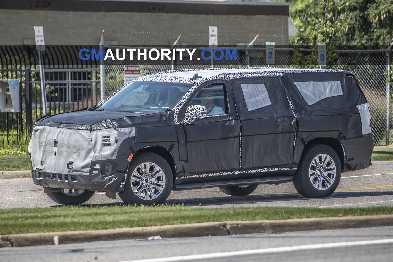 2021 gmc yukon spied with productionintent headlamps  gm