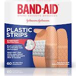 Band-Aid Brand Comfort-Flex Plastic Adhesive Bandages, Assorted Sizes, 60 Count
