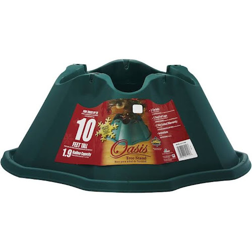 oasis plastic christmas tree stand green