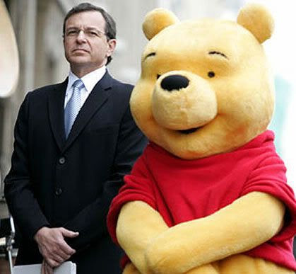Bob Iger and Winnie-the-Pooh