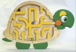 Turtle Maze Woodworking Plan - fee plans from WoodworkersWorkshop® Online Store - turtles, mazes,puzzles,toys,playtime,childrens,childs,kids,full sized patterns,woodworking plans,woodworkers projects,blueprints,drawings,blueprints,how-to-build,MeiselWoodHobby