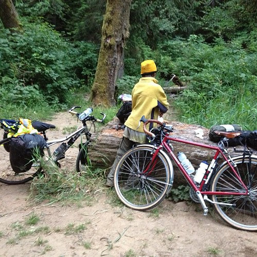 75 miles today knappa junction to lewis and Clark state park #touring #oregon